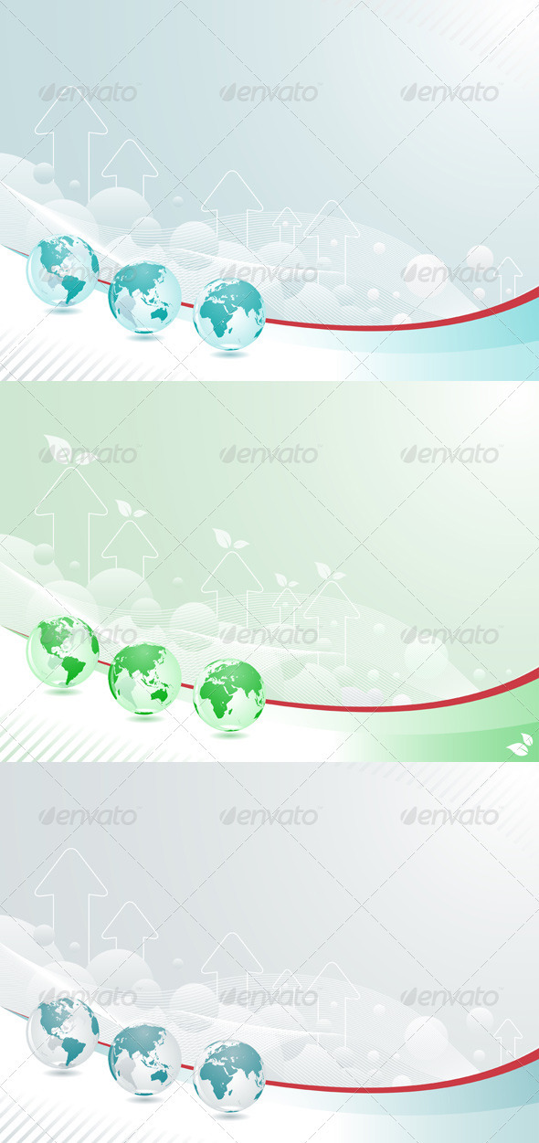 Globe Abstract Background Set - Backgrounds Decorative