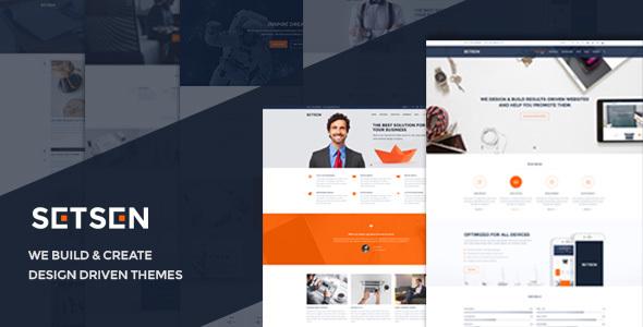 Setsen - Design Driven WordPress Theme - Corporate WordPress