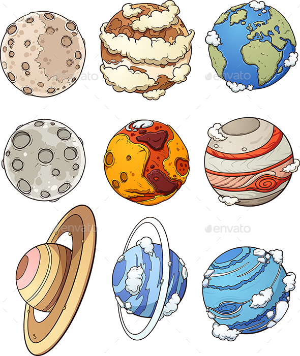 Cartoon Planets - Nature Conceptual