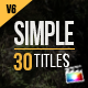 30 Simple Titles for Final Cut Pro X - VideoHive Item for Sale