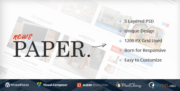 News Paper – Responsive WordPress Magazine Theme
