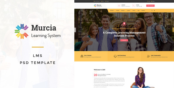Murcia - LMS PSD Template - Business Corporate