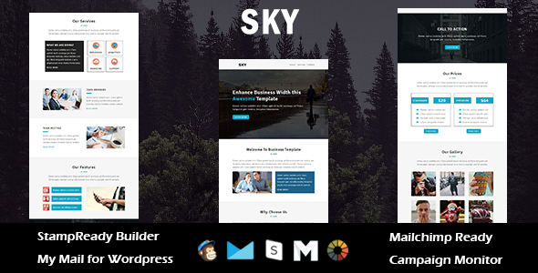 Sky – Multipurpose Responsive Email Template with Stampready Builder Access