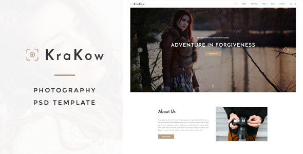 Krakow - Photography PSD Template - Business Corporate