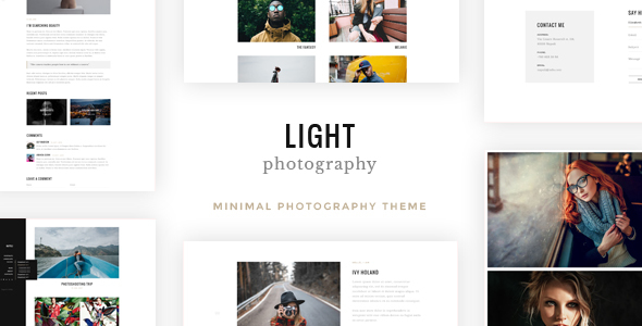 Light  - Minimal SpeedLight Creative Photography WordPress Theme