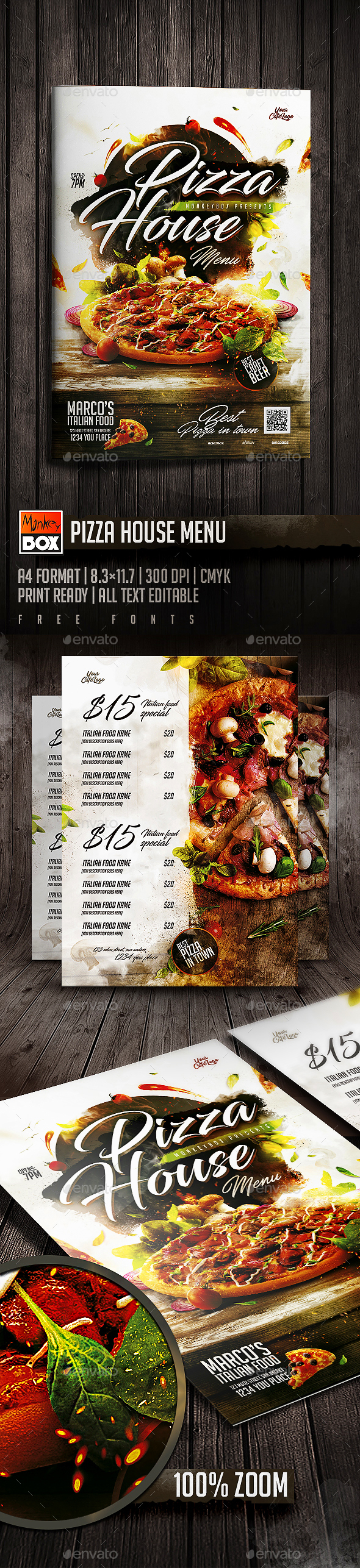 Pizza House Menu
