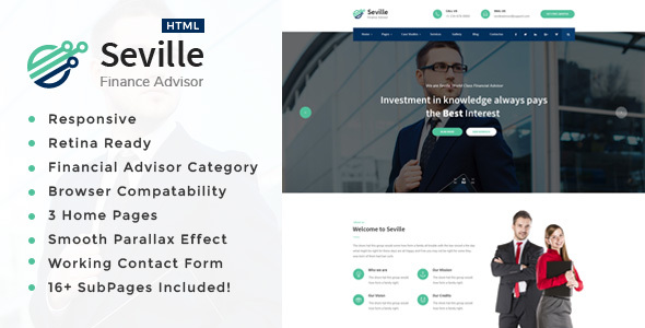 Seville - Business Consulting and Professional Services HTML Template