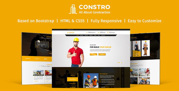 Constro-Construction Business HTML5 Template