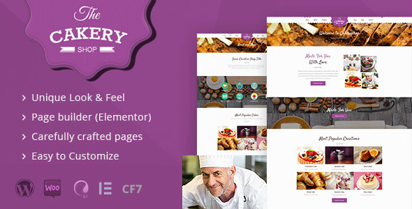 Cakeryshop - Cake WordPress Theme - WordPress
