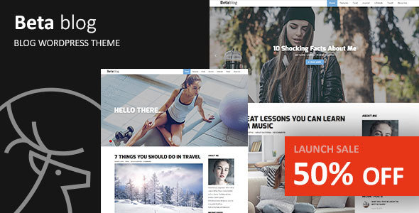 Beta-blog - Responsive WordPress Blog Theme