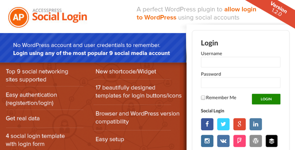 AccessPress Social Login - CodeCanyon Item for Sale