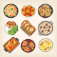 Homemade Dinner Dishes - GraphicRiver Item for Sale