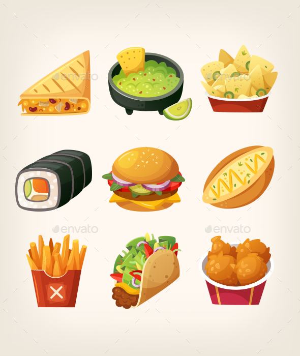 Fast Food Menu - Food Objects