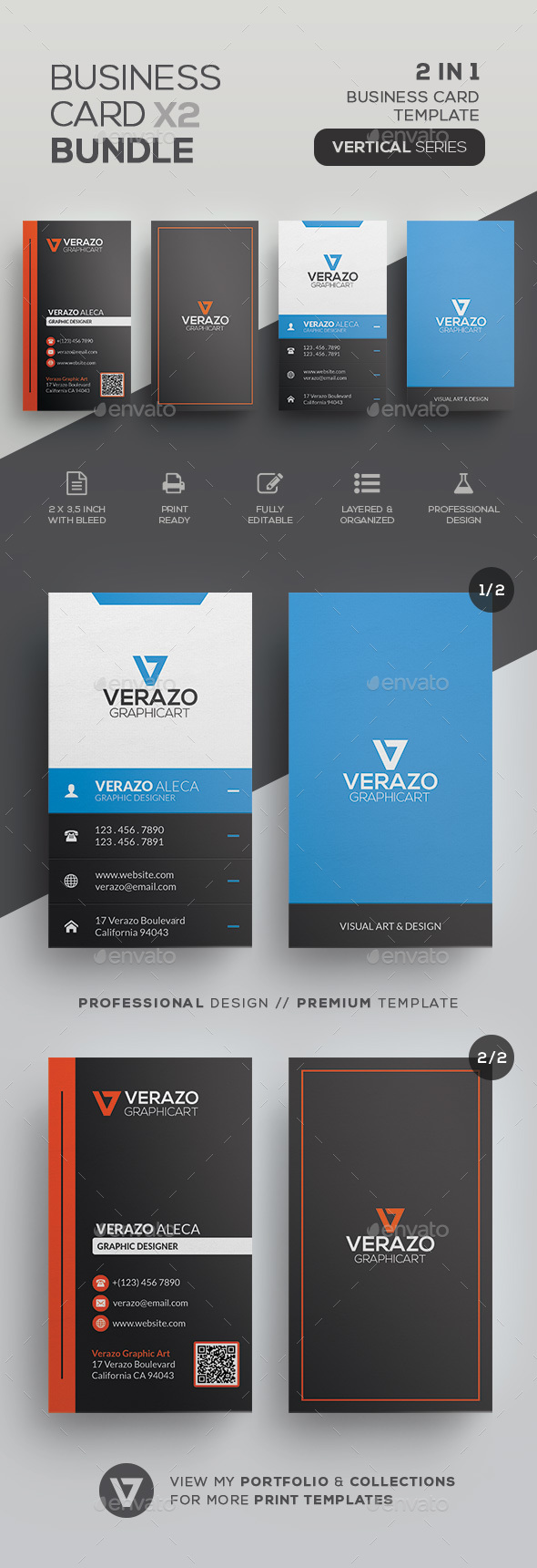 Business Card Bundle 29 - Corporate Business Cards