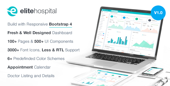 Elite Hospital - Bootstrap 4 Admin Template