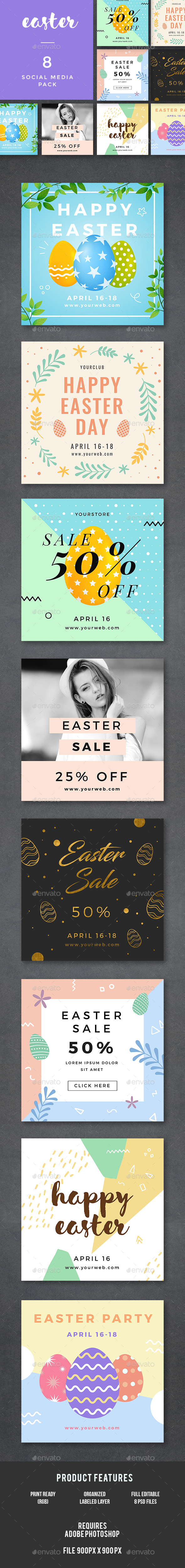 Easter Banners - Banners & Ads Web Elements