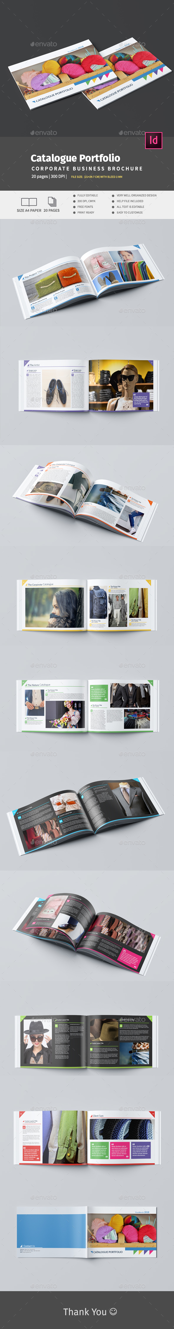 A4 Catalogue Portfolio - Brochures Print Templates