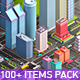 Low Poly Megapolis Premium Pack (Landscape, Buildings, Airport) - 3DOcean Item for Sale