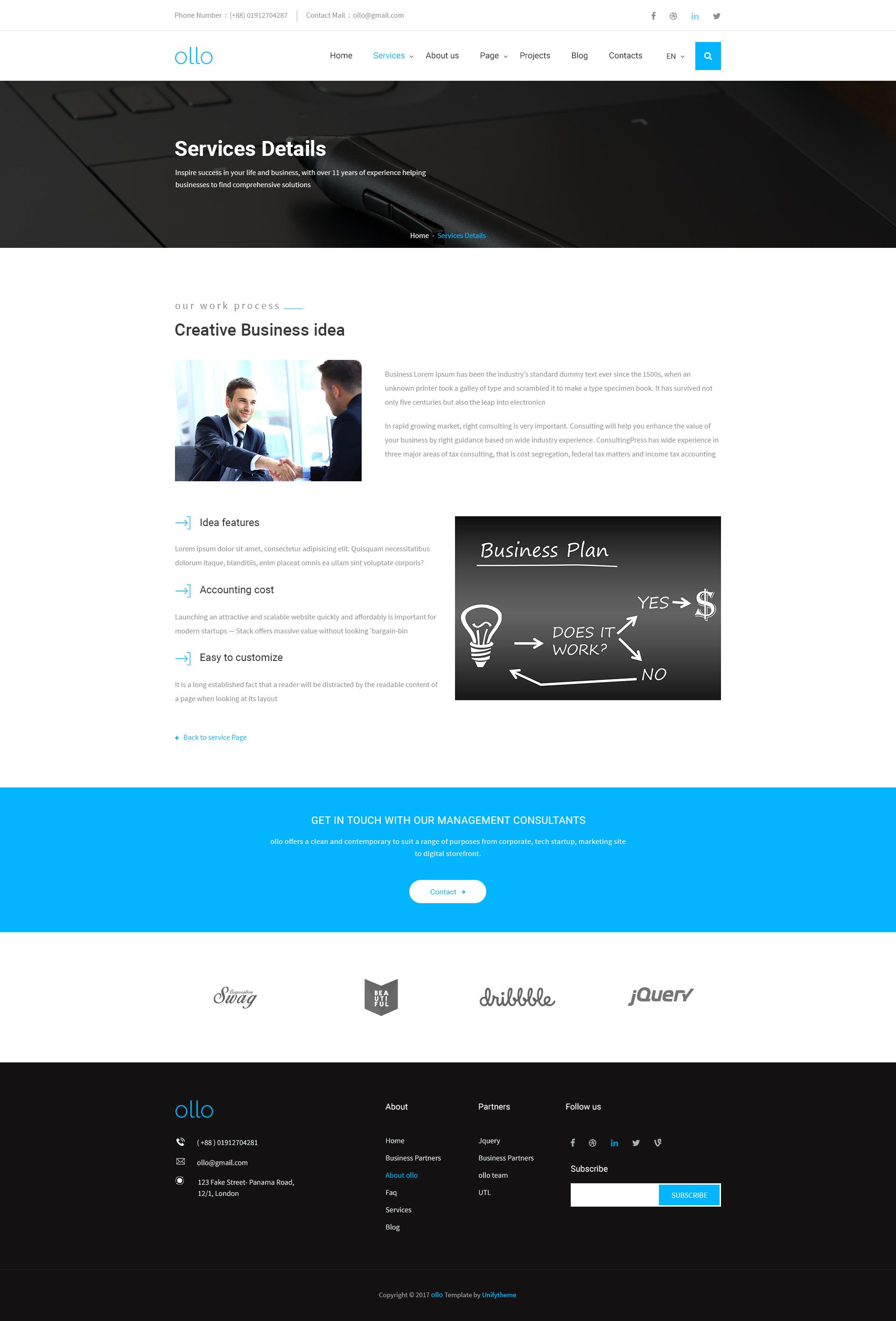 ollo - Multipurpose & Business PSD Template by UnifyTheme   ThemeForest