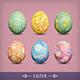 Set of Vintage Easter Eggs - GraphicRiver Item for Sale
