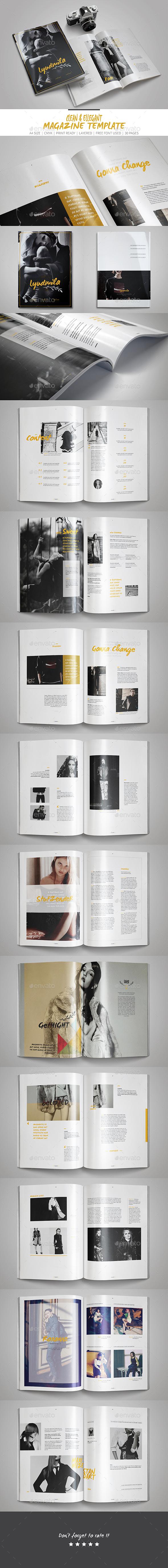 Multipurpose InDesign Magazine Template - Magazines Print Templates