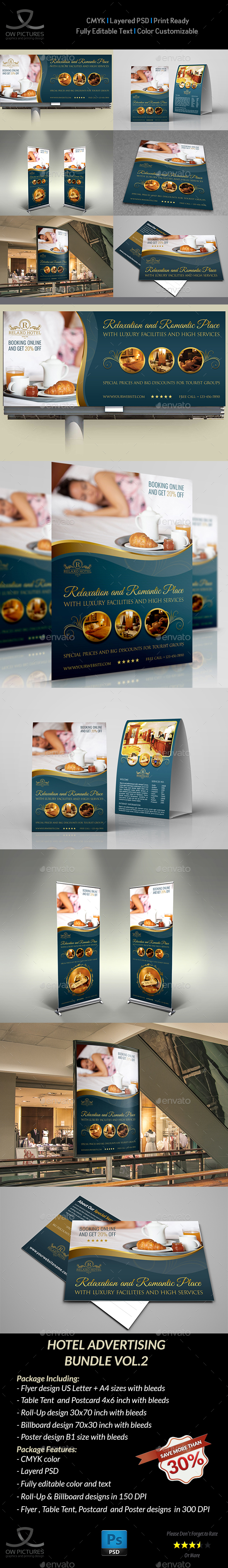 Hotel Advertising Bundle Vol.2 - Signage Print Templates