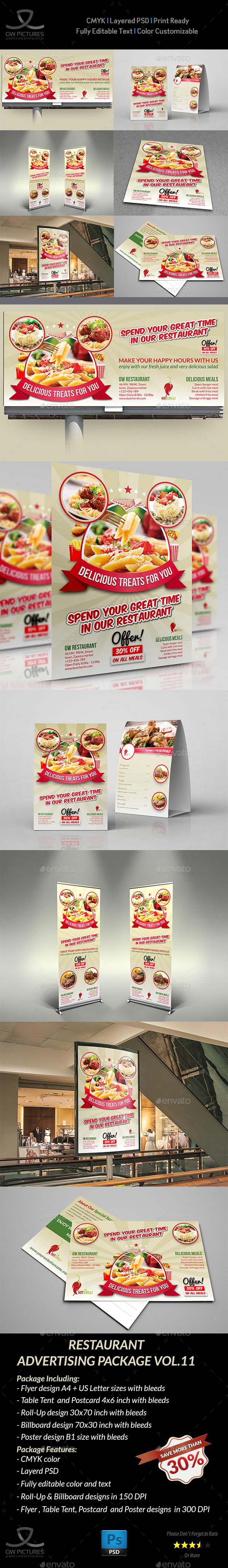 Restaurant Advertising Bundle Vol11