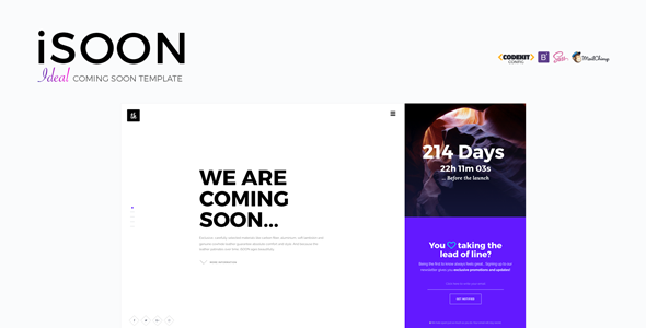 iSOON – Ideal Coming Soon Template