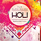 The Electrified Holi Music Festival Flyer Template