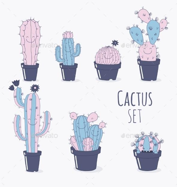 Cactus Symbols - Miscellaneous Vectors