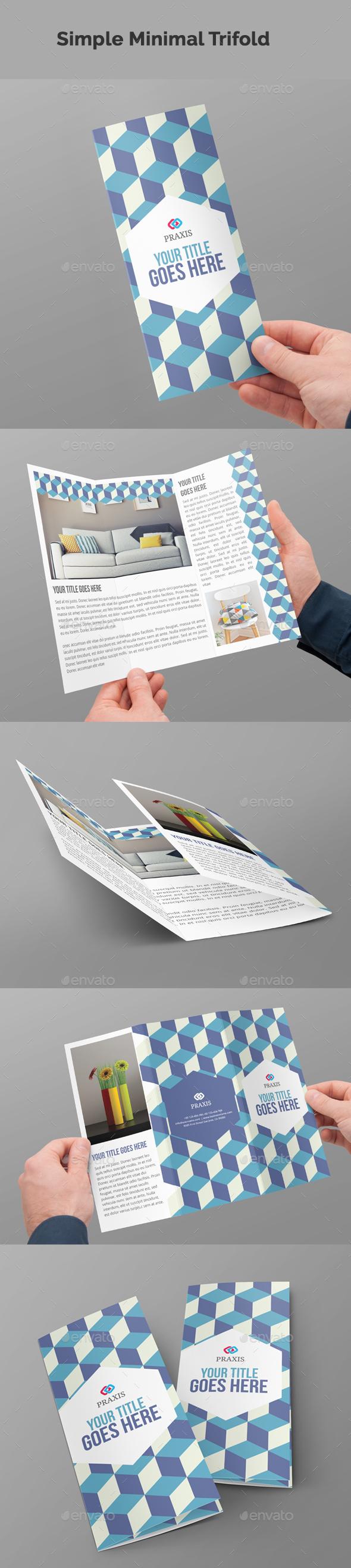 Simple Minimal Tri-Fold Brochure - Brochures Print Templates