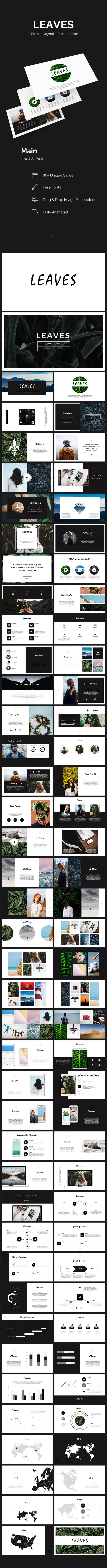 Leaves Minimal Keynote Template - Keynote Templates Presentation Templates