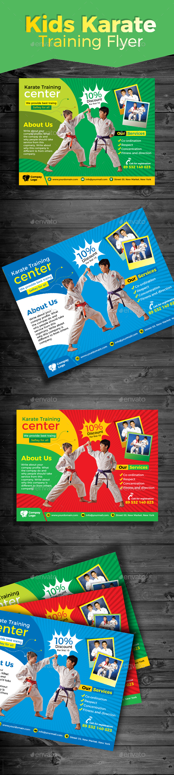 Kids Karate Training Flyer - Sports Events