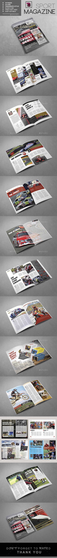 Sport Magazine Template - Magazines Print Templates