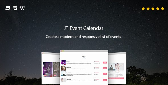 JT Event Calendar - CodeCanyon Item for Sale