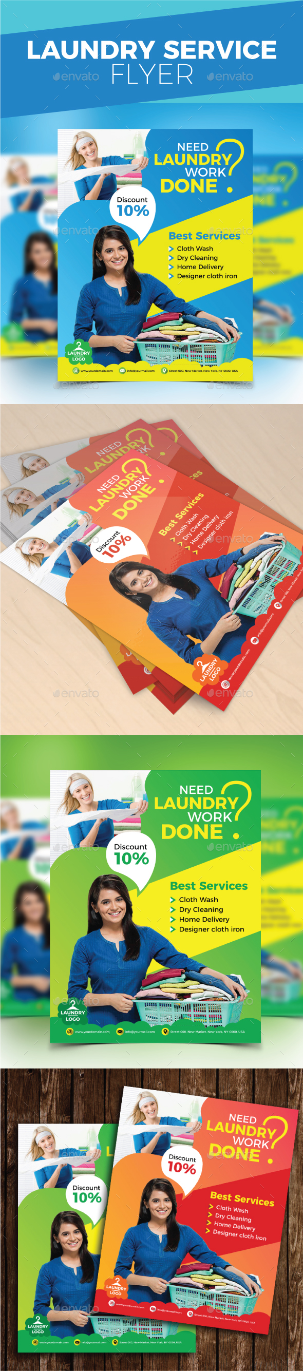 Laundry Service Flyer - Commerce Flyers