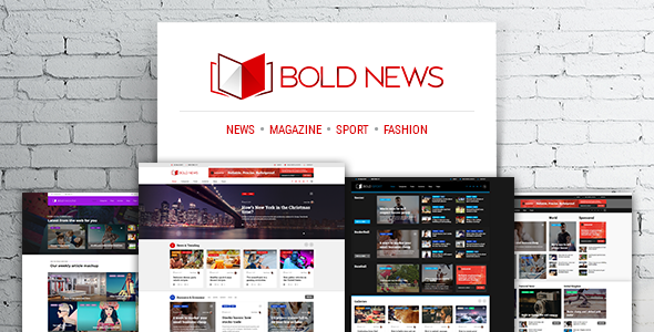 Bold News – Magazine & News WordPress Theme