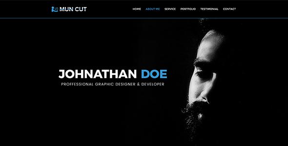 Mun Cut - Personal Portfolio PSD Template - Portfolio Creative