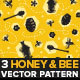 Honey and Bee Seamless Pattern - GraphicRiver Item for Sale