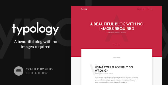 Typology - Text Based Minimal WordPress Blog Theme - Personal Blog / Magazine