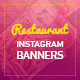 Restaurant Instagram Banners - GraphicRiver Item for Sale