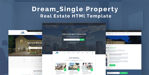 Dream – Single Property Real Estate HTML Template