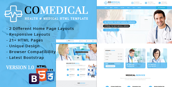 CoMedical – Health & Medical Responsive Template
