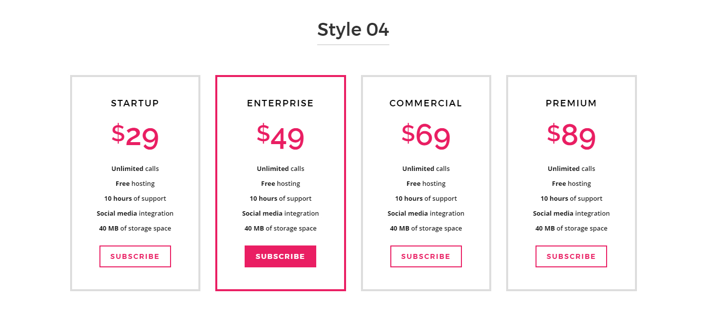 Responsive bootstrap pricing table by abeymac codecanyon for Bootstrap table responsive example