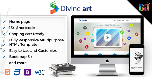 Divine – Responsive Multi-Purpose HTML5 Template