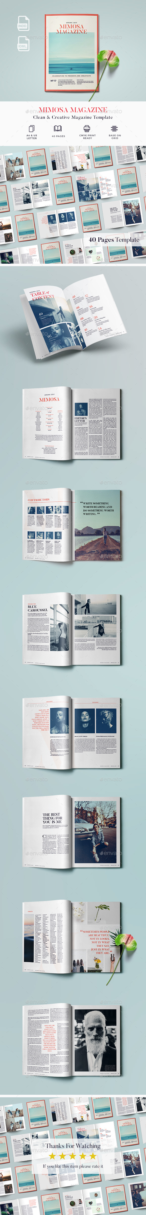 40 Pages Magazine - Magazines Print Templates