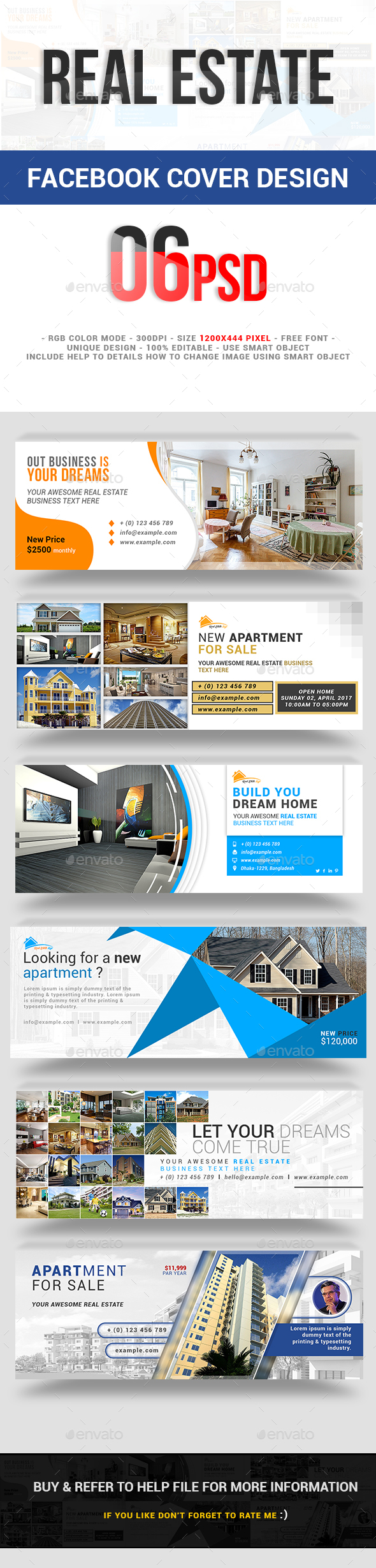 Real Estate Facebook Cover Design - Social Media Web Elements