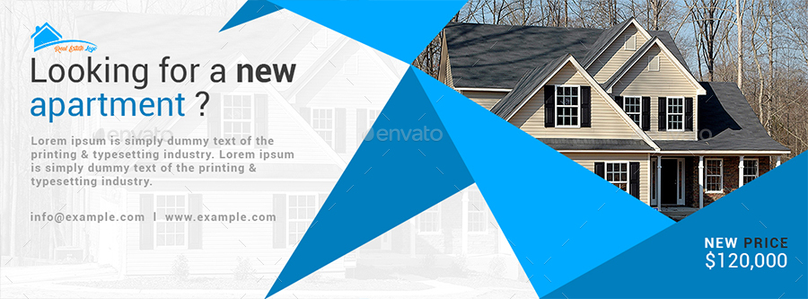 Real Estate Facebook Cover Design by Amit89 | GraphicRiver