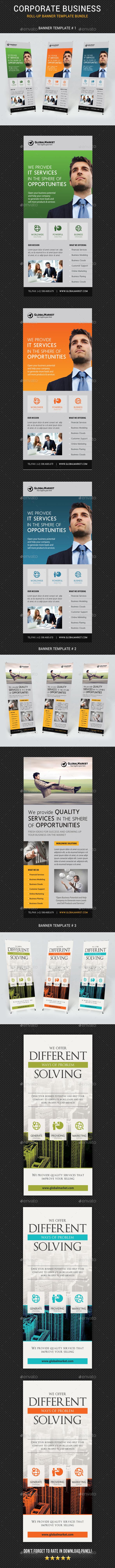 Corporate Business Banner Bundle - Signage Print Templates