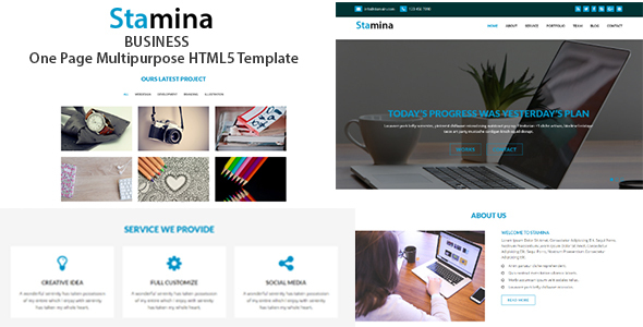 Stamina – One Page Multipurpose HTML Template